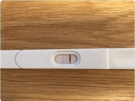 בדיקת הריון ביתית חיובית